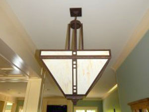 indoor lighting installation by Iddings Electric in york, pa