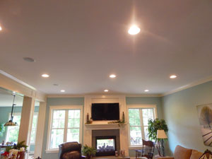 indoor lighting installation by Iddings Electric in lancaster, pa