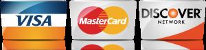 Visa, Master Card, Discover
