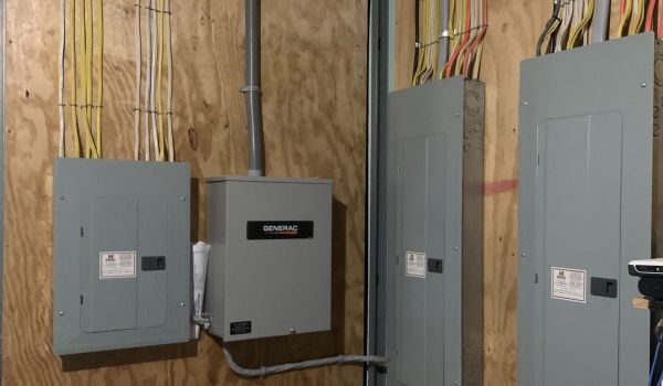 New electric service panels.